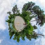بوستان وکیل آباد - نمای سیاره کوچک