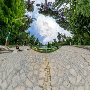 بوستان وکیل آباد - نمای استریو گرافیک