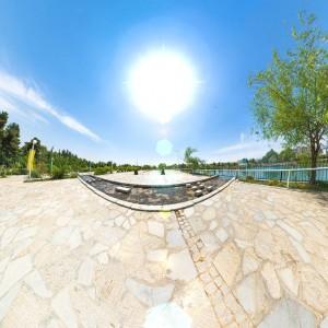 نمای استریو گرافیک محوطه - بوستان وکیل آباد