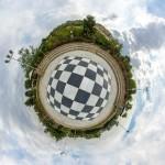 نمای سیاره کوچک - محوطه شطرنجی