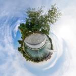 نمای سیاره کوچک استخر