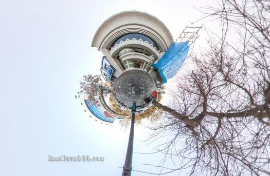 تالار داریوش - نمای سیاره کوچک بیرون تالار